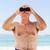 старший · человека · птица · смотрят · пляж · синий - Сток-фото © wavebreak_media