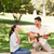 adam · oynama · gitar · kız · arkadaş · gülümseme · çift - stok fotoğraf © wavebreak_media
