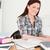 bastante · nina · alterar · estudiar · escritorio - foto stock © wavebreak_media