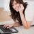 очаровательный · брюнетка · женщины · телефон · расслабляющая · ноутбука - Сток-фото © wavebreak_media