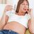 kobieta · w · ciąży · woda · pitna · okno · przyszłości · pitnej · świeże - zdjęcia stock © wavebreak_media