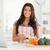 keuken · schort · ingrediënten · koken · witte · voedsel - stockfoto © wavebreak_media