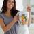 káprázatos · nő · robotgép · áll · konyha · étel - stock fotó © wavebreak_media