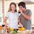pişirme · akşam · yemeği · içme · mutfak - stok fotoğraf © wavebreak_media