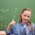 mosolyog · iskolás · lány · remek · iskolatábla · iskola · diák - stock fotó © wavebreak_media