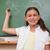 portret · schoolmeisje · poseren · Blackboard · kamer · groene - stockfoto © wavebreak_media