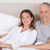 couple lying on a bed in the morning stock photo © wavebreak_media