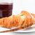 croissant · jam · witte · achtergrond · Rood · ontbijt - stockfoto © wavebreak_media