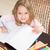 幸せ · 女の子 · 図面 · 鉛筆 · ホーム · 赤ちゃん - ストックフォト © wavebreak_media