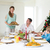 mother serving christmas meal to family stock photo © wavebreak_media
