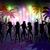 digitálisan · generált · éjszakai · élet · pálmafák · emberek · tánc - stock fotó © wavebreak_media