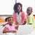 anne · çocuklar · dizüstü · bilgisayar · kullanıyorsanız · mutfak · aile · kız - stok fotoğraf © wavebreak_media