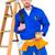 elektryk · kabli · człowiek · niebieski · kabel - zdjęcia stock © wavebreak_media