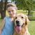 meisje · golden · retriever · hond · tienermeisje · huisdier - stockfoto © wavebreak_media
