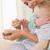boldog · baba · kanál · etetés · gyönyörű · csecsemő - stock fotó © wavebreak_media