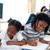 levendig · kinderen · tekening · vloer · ouders · familie - stockfoto © wavebreak_media