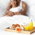 счастливым · пару · завтрак · кровать · домой · спальня - Сток-фото © wavebreak_media