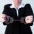 mãos · para · cima · cadeias · vermelho · mulher · ajudar - foto stock © wavebreak_media
