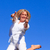 Delighted woman jumping in the air stock photo © wavebreak_media