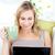 kaukasisch · vrouw · vergadering · laptop · beker - stockfoto © wavebreak_media