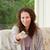 vrouw · afstandsbediening · home · gelukkig · ontspannen · portret - stockfoto © wavebreak_media