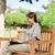 ビジネス女性 · 作業 · コンピュータ · 屋外 · 肖像 · 小さな - ストックフォト © wavebreak_media