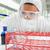 protetta · femminile · scienziato · blu · liquido · provetta - foto d'archivio © wavebreak_media