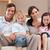 портрет · семьи · Смотря · телевизор · вместе · гостиной · домой - Сток-фото © wavebreak_media