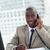 portrait · souriant · entrepreneur · coup · de · téléphone · lecture - photo stock © wavebreak_media