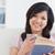 азиатских · женщину · чтение · книга · окна · очки - Сток-фото © wavebreak_media