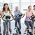 feliz · mujer · gimnasio · ciclo · fitness - foto stock © wavebreak_media