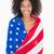 patriotyczny · dziewczyna · dość · dziewczynka · hat - zdjęcia stock © wavebreak_media