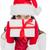 esmer · kırmızı · eldiven · şapka - stok fotoğraf © wavebreak_media