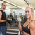 couple exercising with dumbbells in gym stock photo © wavebreak_media