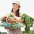 улыбаясь · фермер · женщину · растительное · корзины - Сток-фото © wavebreak_media