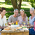 happy family having picnic in the park stock photo © wavebreak_media