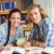 főiskola · diákok · házi · feladat · könyvtár · portré · nő - stock fotó © wavebreak_media