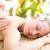 fiatal · nő · masszázs · nap · fürdő · ágy · mosoly - stock fotó © wavebreak_media