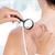 arts · onderzoeken · patiënt · vergrootglas · medische · kantoor - stockfoto © wavebreak_media