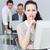 zakenvrouw · vragen · stilte · kantoor · mooie · computer - stockfoto © wavebreak_media