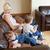 familie · vergadering · bank · woonkamer · meisje · gelukkig - stockfoto © wavebreak_media