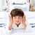 прелестный · мало · мальчика · прослушивании · музыку · наушники - Сток-фото © wavebreak_media