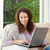 vrouw · werken · laptop · gelukkig · ontspannen · portret - stockfoto © wavebreak_media