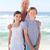 nagymama · unokák · tengerpart · égbolt · víz · mosoly - stock fotó © wavebreak_media