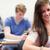 anziehend · Studenten · Test · Klassenzimmer · Frau · glücklich - stock foto © wavebreak_media