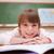 gelukkig · schoolmeisje · bureau · klas · gezicht - stockfoto © wavebreak_media