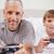 мальчика · отец · играет · Видеоигры · спальня · семьи - Сток-фото © wavebreak_media