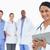 女性 · 医師 · クリップボード · スタッフ · 後ろ · 白 - ストックフォト © wavebreak_media