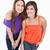 Two teenagers leaning their bodies forward stock photo © wavebreak_media