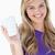 lächelnd · blonde · Frau · halten · Tasse · Kaffee · weiß - stock foto © wavebreak_media